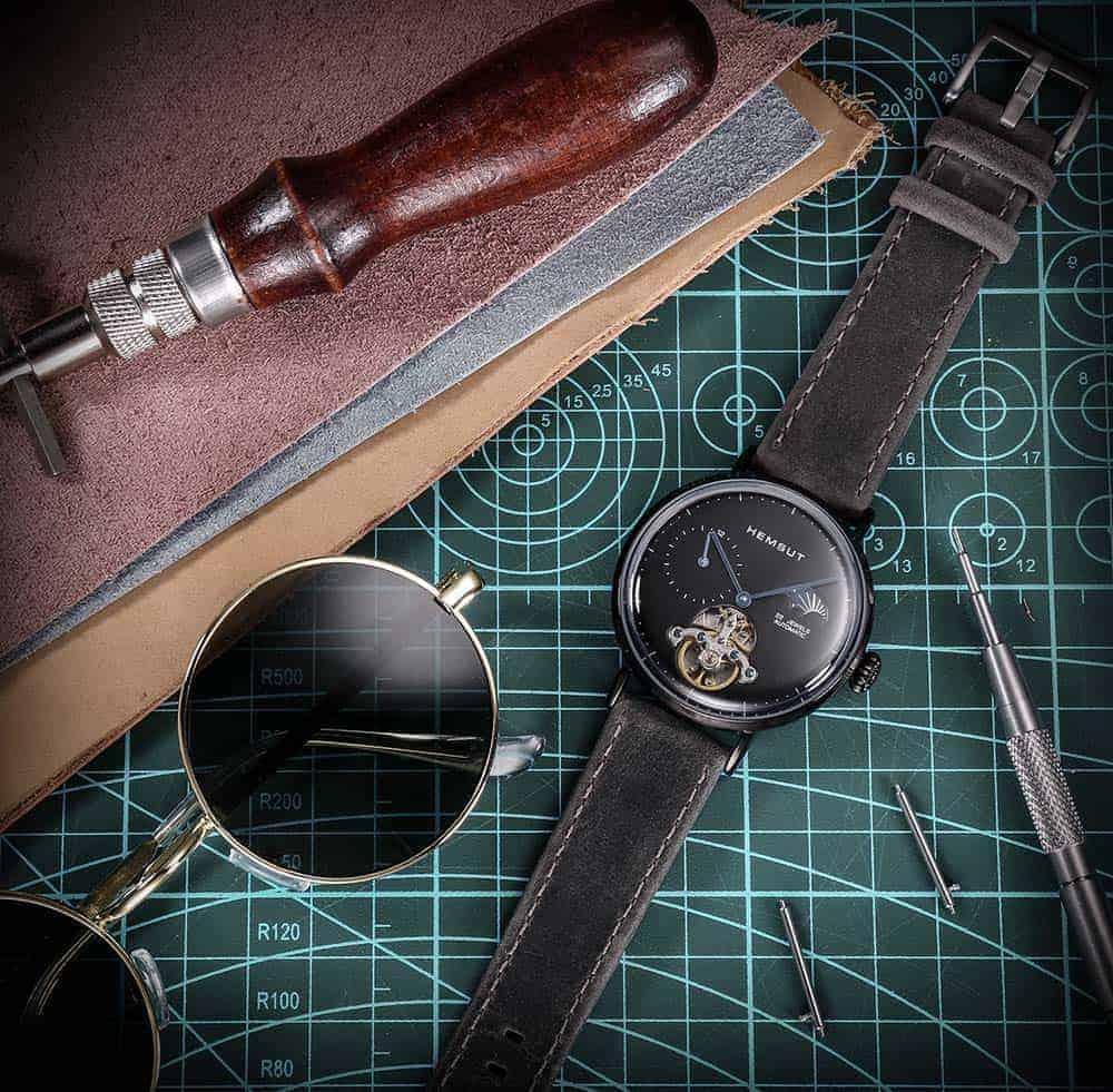 AMAZFIT BIP   Genuine Leather Watch Bands   Dark Grey