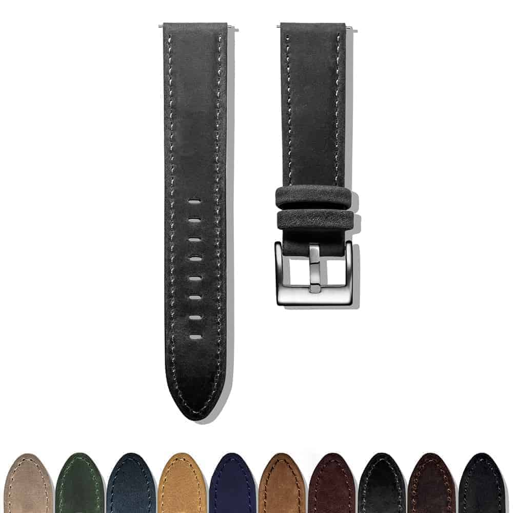 AMAZFIT BIP | Genuine Leather Watch Bands | Dark Grey