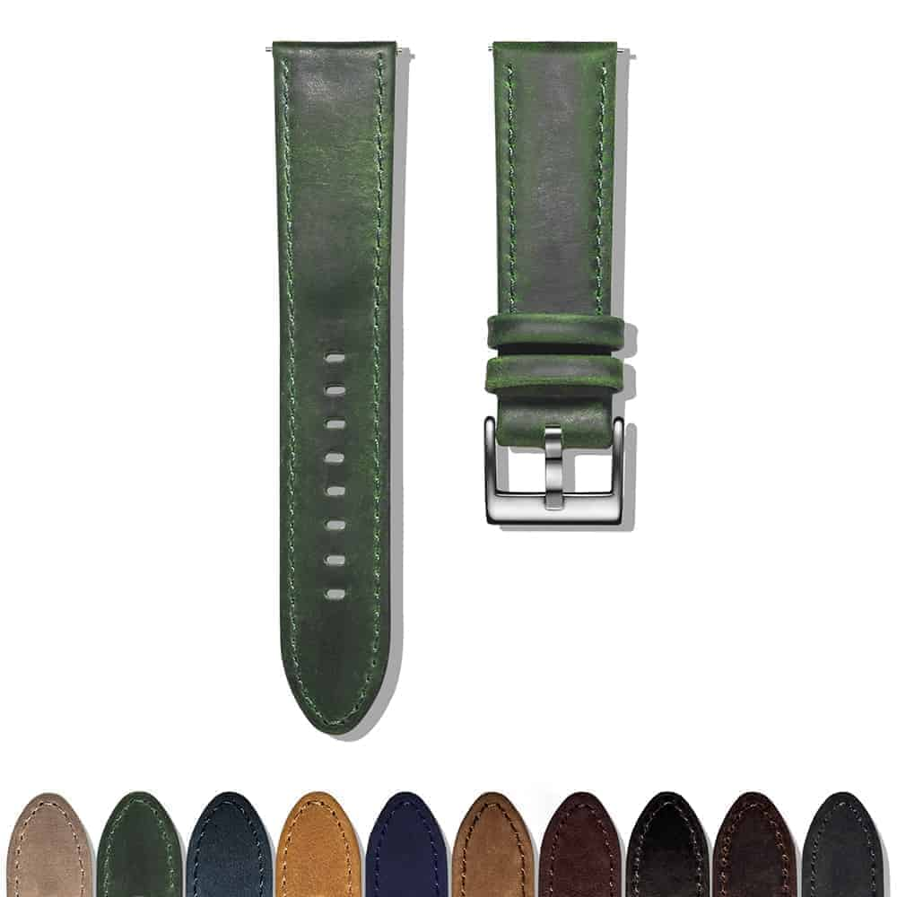 Samsung Galaxy Watch Active | Genuine Leather Watch Bands | Green
