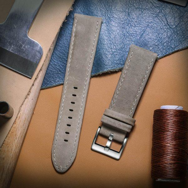 Samsung Galaxy Watch | Genuine Leather Watch Bands | Grey