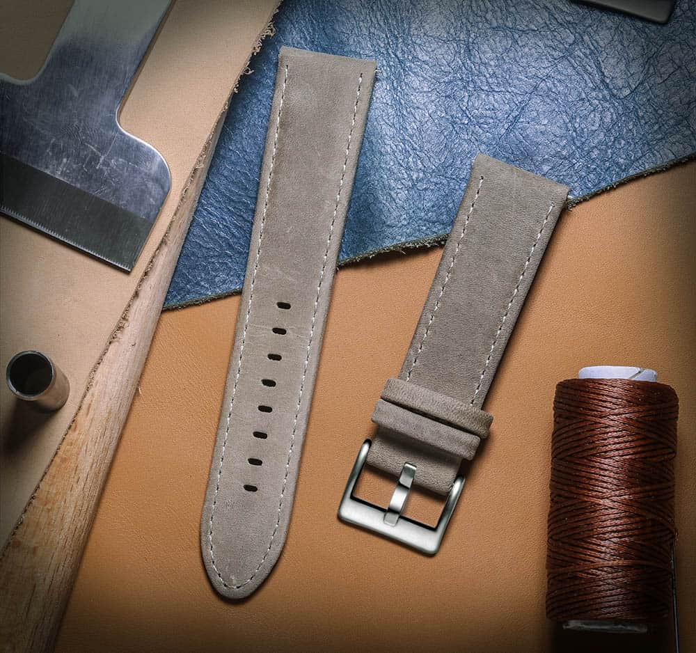 FOSSIL GEN 5 | Genuine Leather Watch Bands | Grey