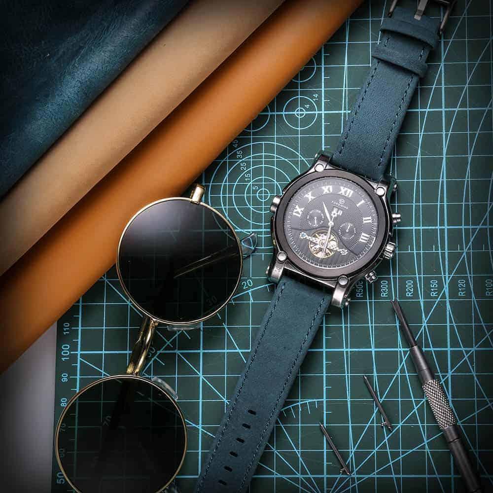 AMAZFIT BIP | Genuine Leather Watch Bands | Navy Blue
