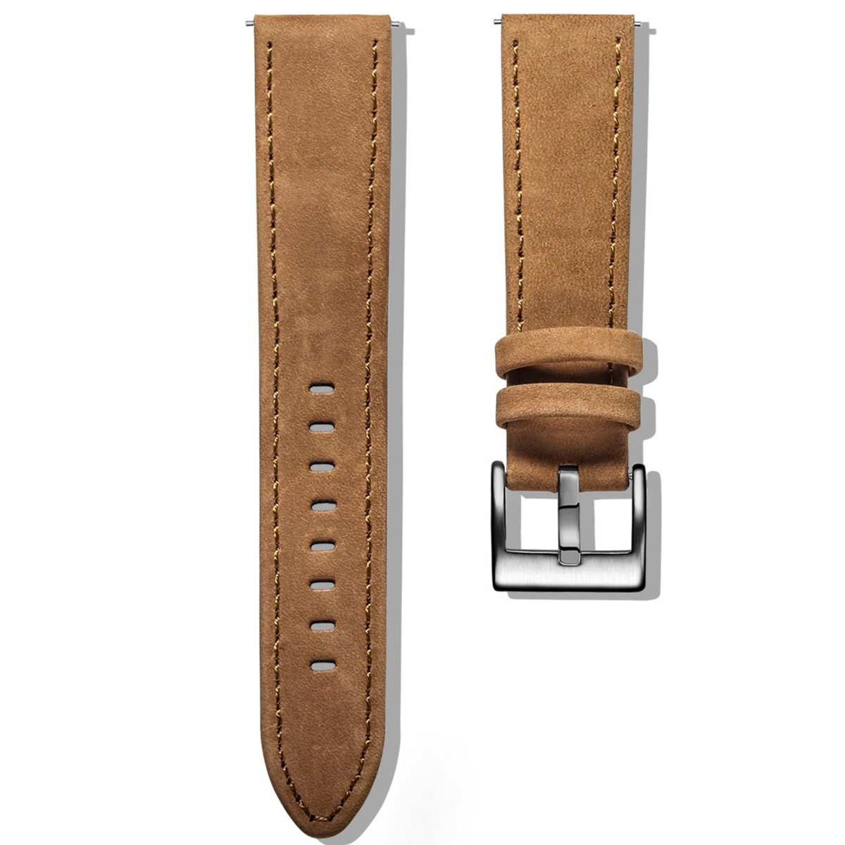 Apple Watch Bands | Genuine Leather Watch Bands | Suede Brown