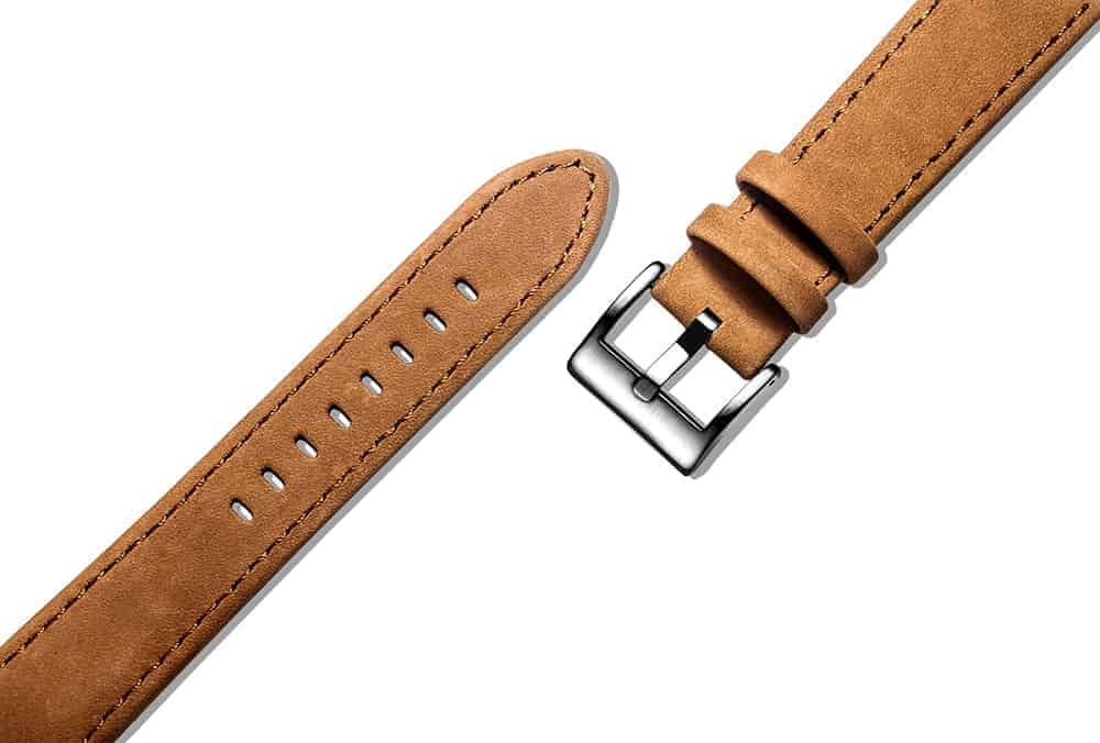 Samsung Galaxy Watch Active 2 | Genuine Leather Watch Bands | Suede Brown