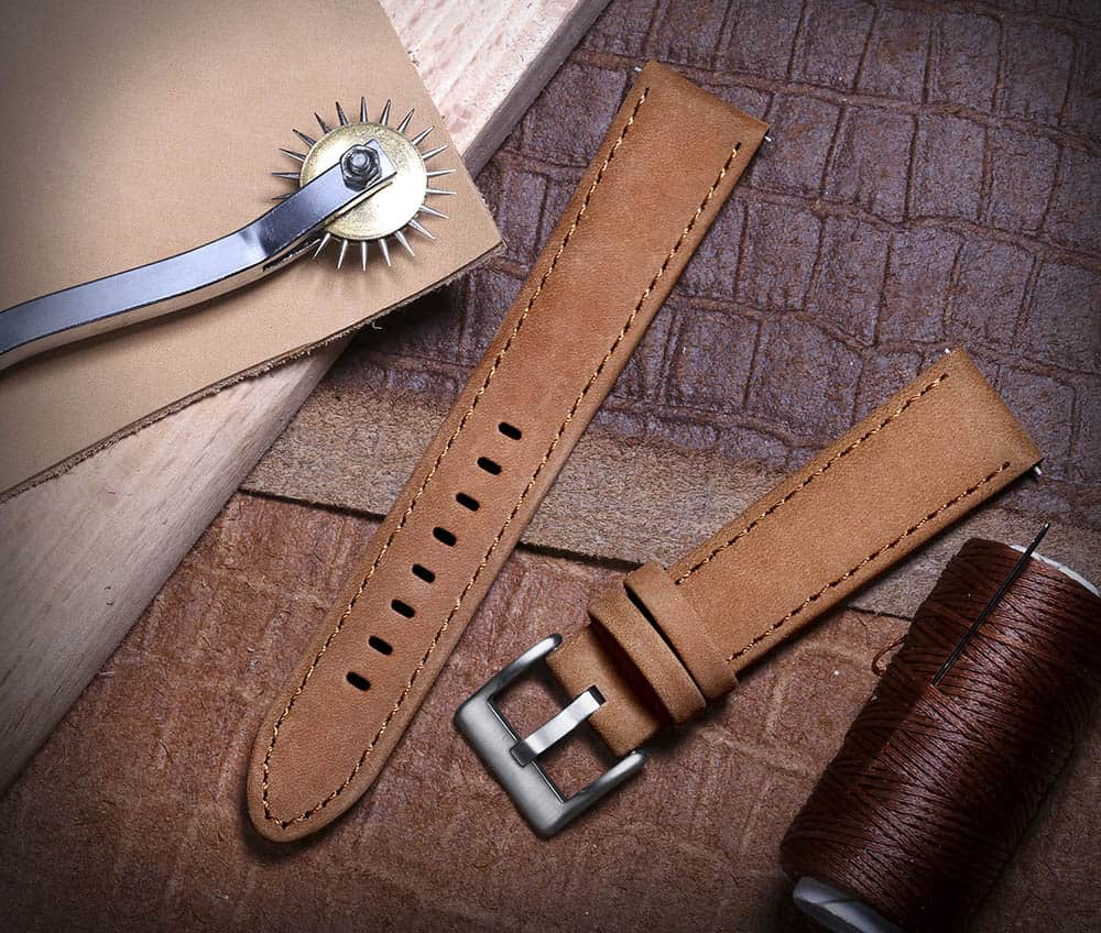 Samsung Gear S3 | Genuine Leather Watch Bands | Suede Brown