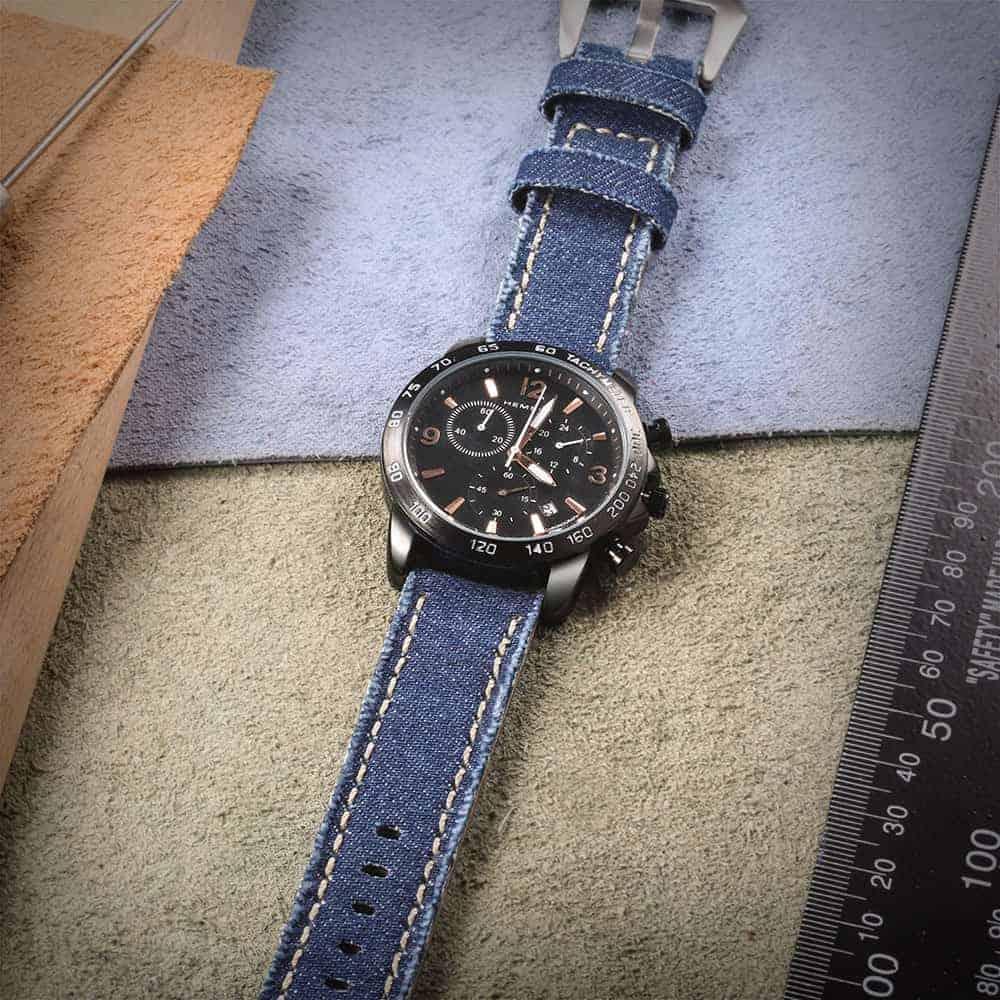 Blue | Canvas Watch Straps Quick Release