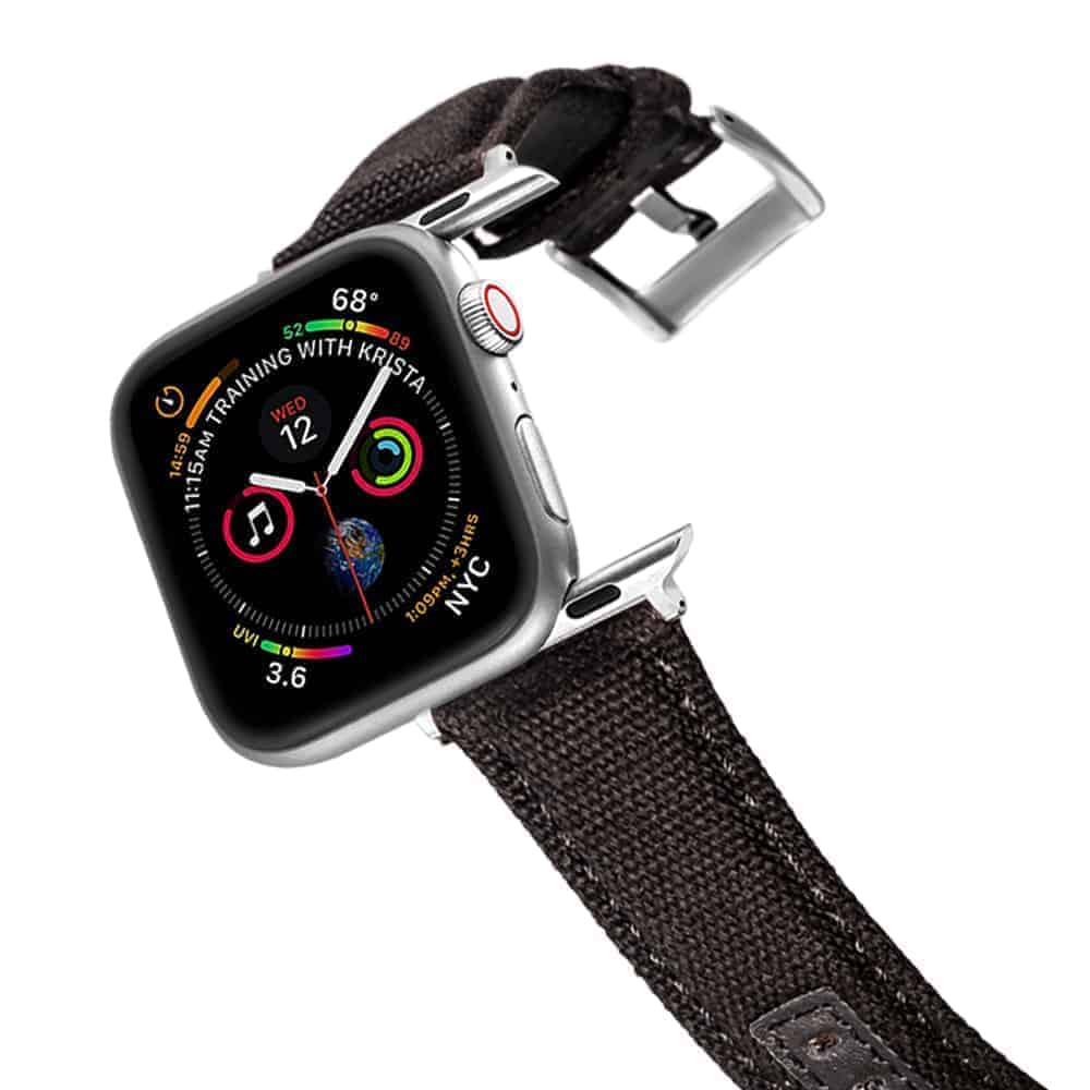 Apple Watch Bands   Canvas Watch Straps   Black