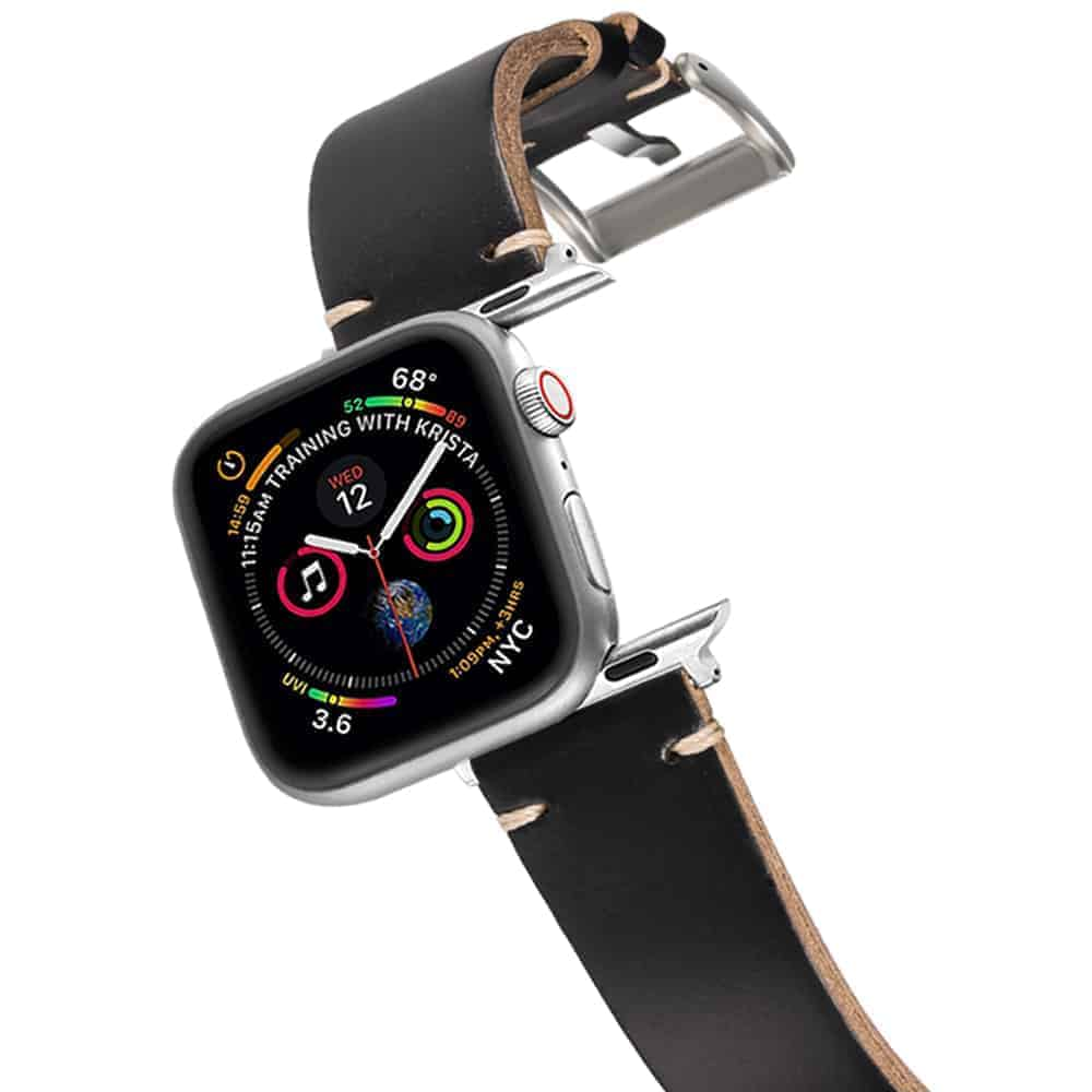 Apple Watch Bands | Horween Leather Watch Straps | Black