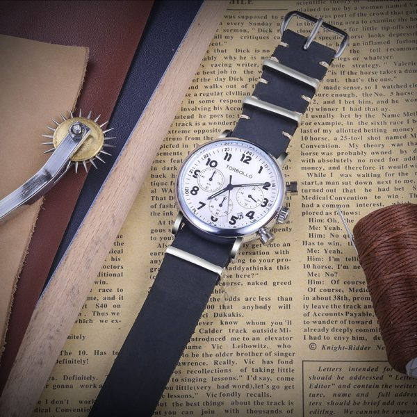 Blue Leather NATO Watch Bands | Hemsut