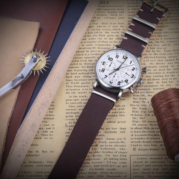 Coffee Leather NATO Watch Straps | Hemsut