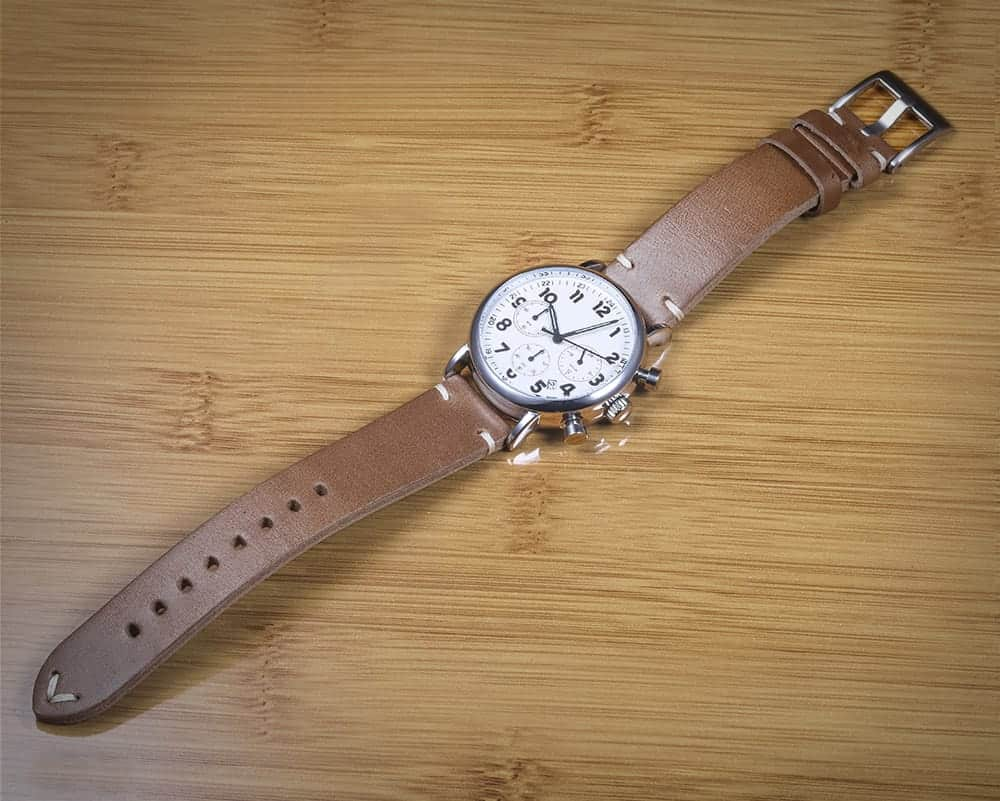 Green   Horween Leather Watch Bands Quick Release