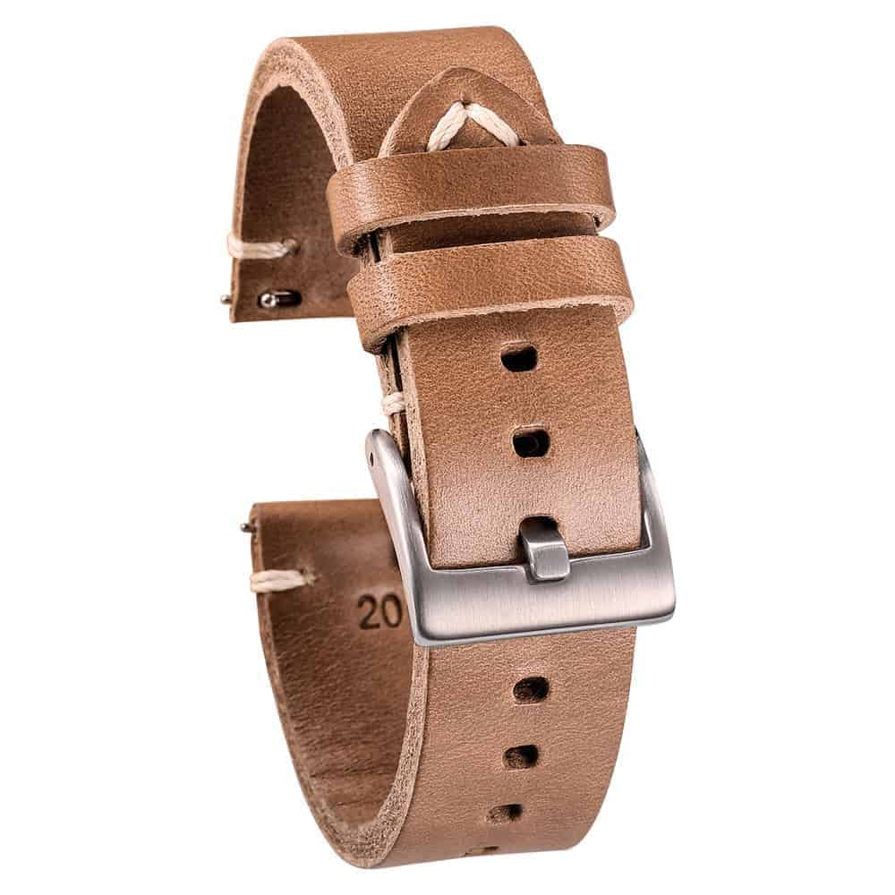 WITHINGS NOKIA ACTIVITE AND STEEL HR   Horween Leather Watch Bands   Natural