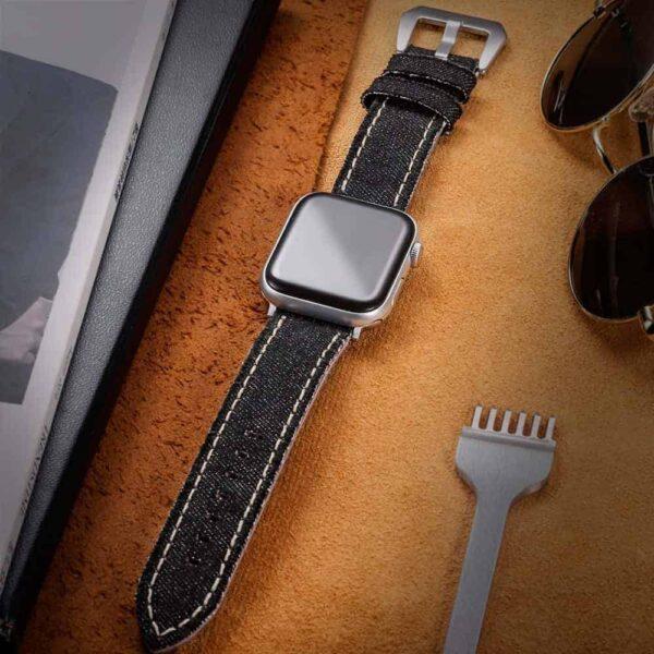 Apple Watch Bands | Canvas Watch Straps | Black