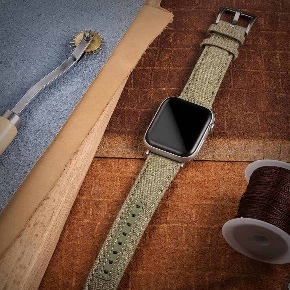 Green | Canvas Watch Straps Quick Release