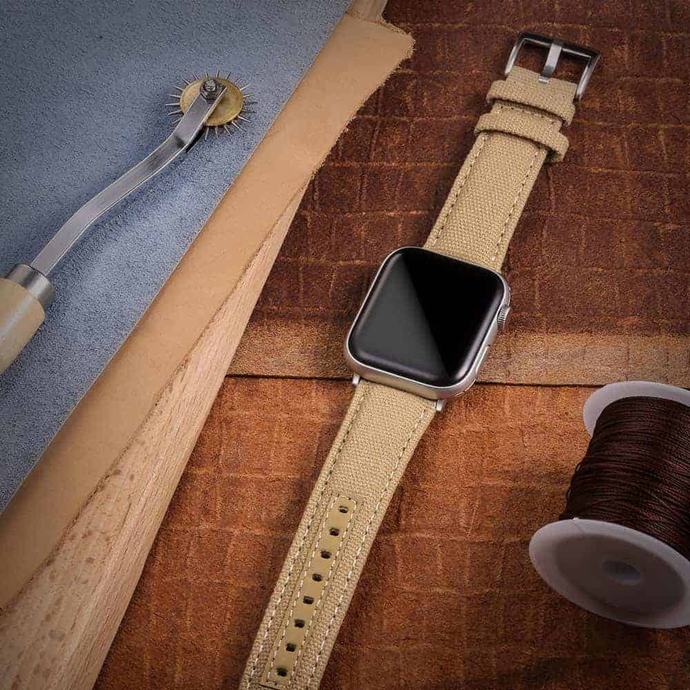 KHAKI | Canvas Watch Straps Quick Release