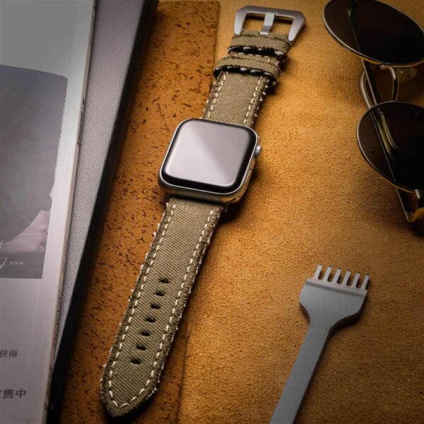 Apple Watch Bands | Canvas Watch Straps | Green