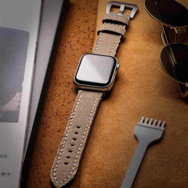 Apple Watch Bands | Canvas Watch Straps | Beige