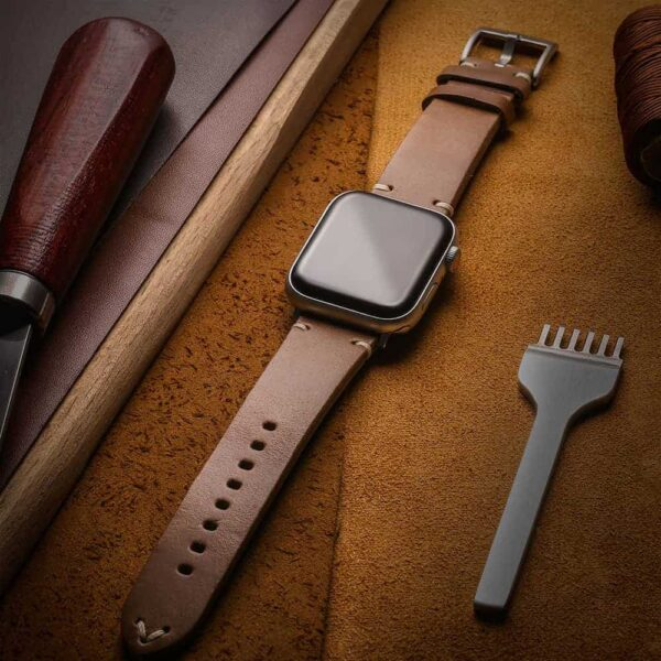 Apple Watch Bands | Horween Leather Watch Straps | Natural