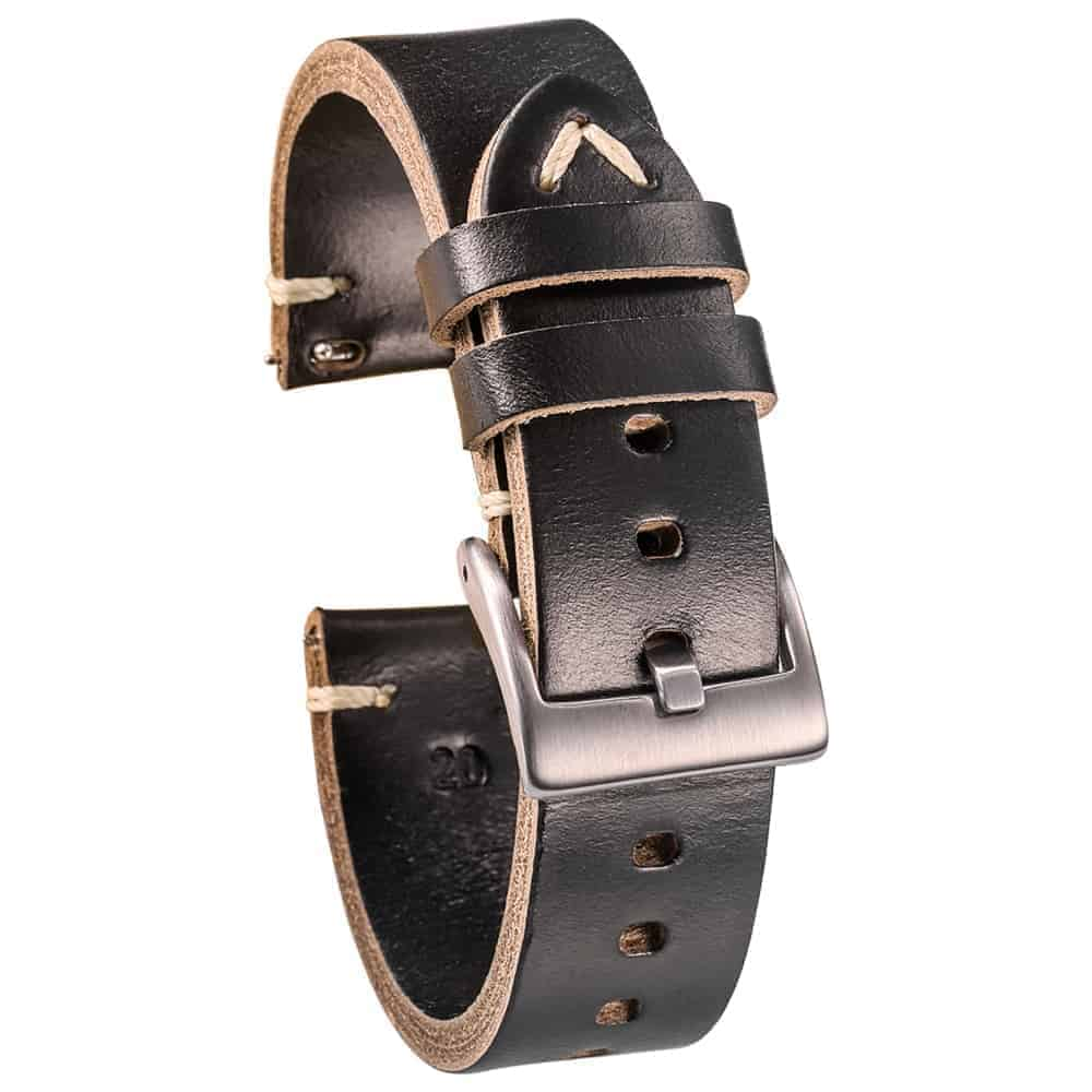 WITHINGS NOKIA ACTIVITE AND STEEL HR | Horween Leather Watch Bands | Black