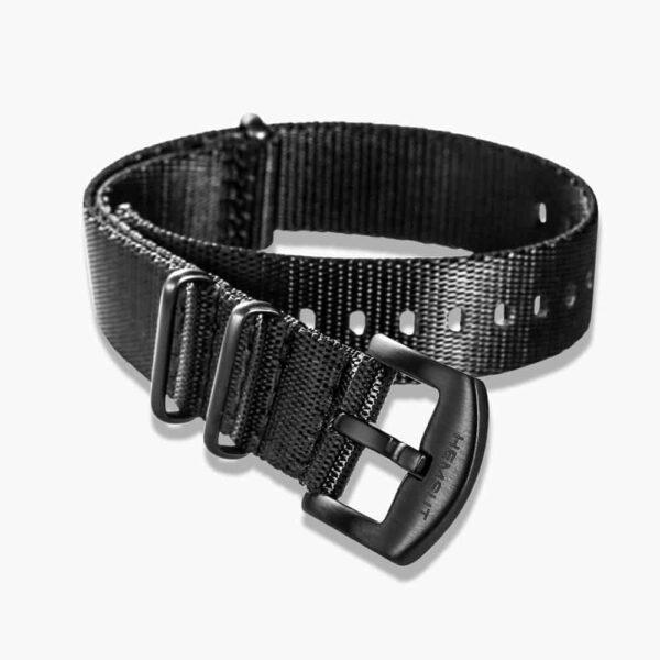Black Nylon NATO Watch Strap Black Buckle | 18mm 20mm 22mm 24mm