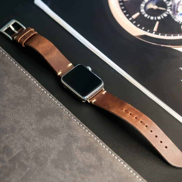 Apple Watch Bands | Natural Horween Leather Straps | Hemsut