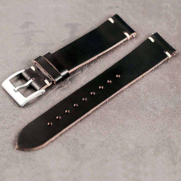 Apple Watch Bands | Black Horween Leather Straps | Hemsut