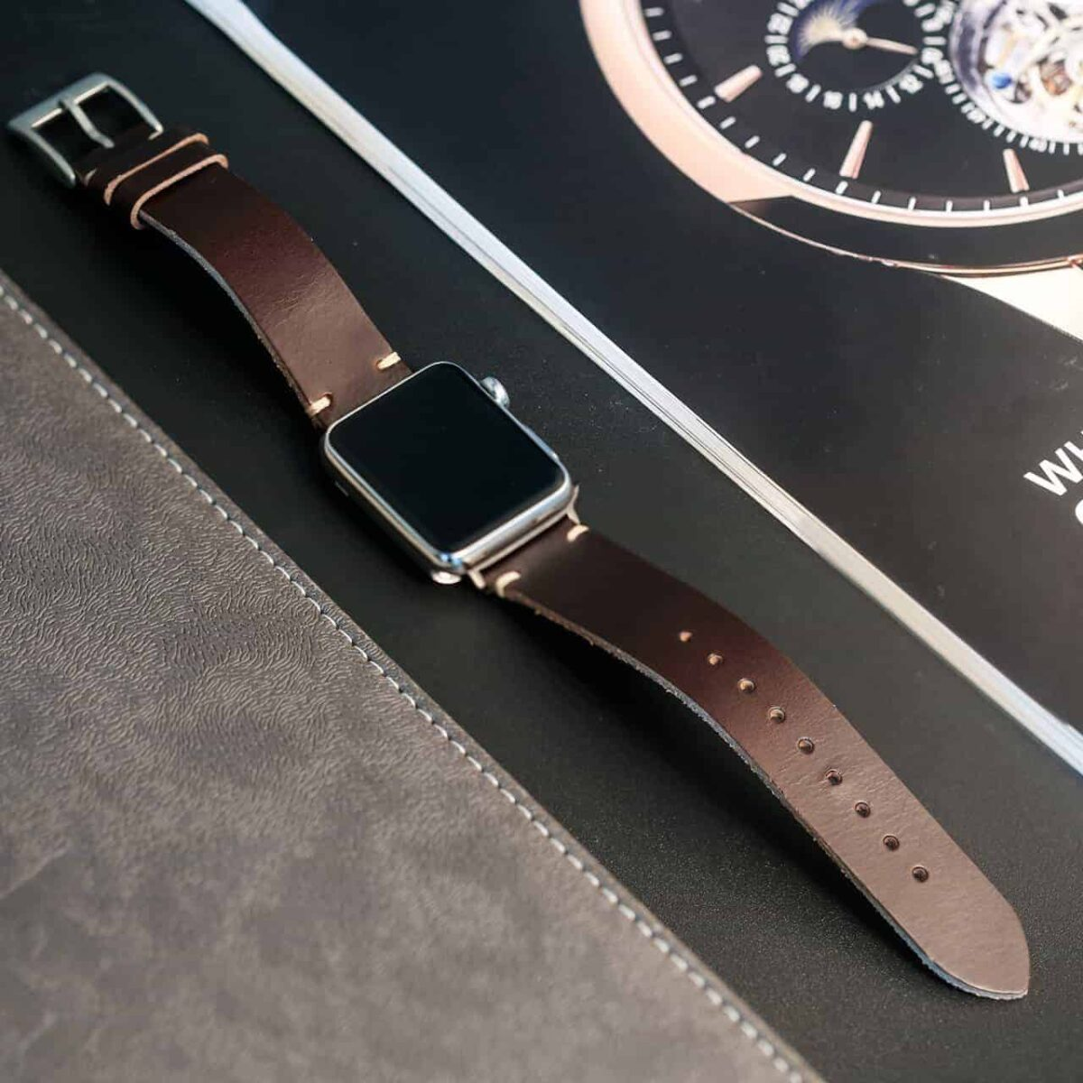 Apple Watch Bands | Brown Horween Leather Straps | Hemsut