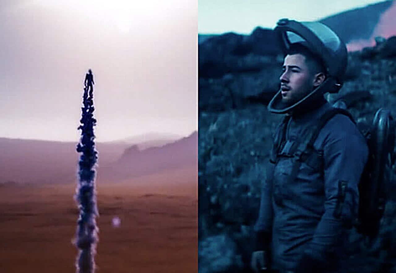 Nick Jonas and 2021 new OMEGA Speedmaster Moonwatch
