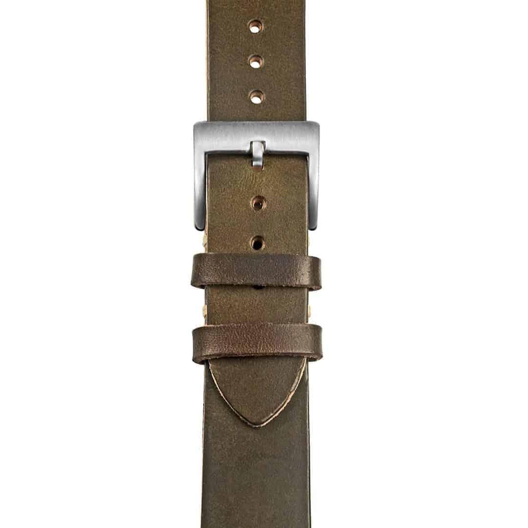 Green | Thin Horween Leather Watch Band | Hemsut