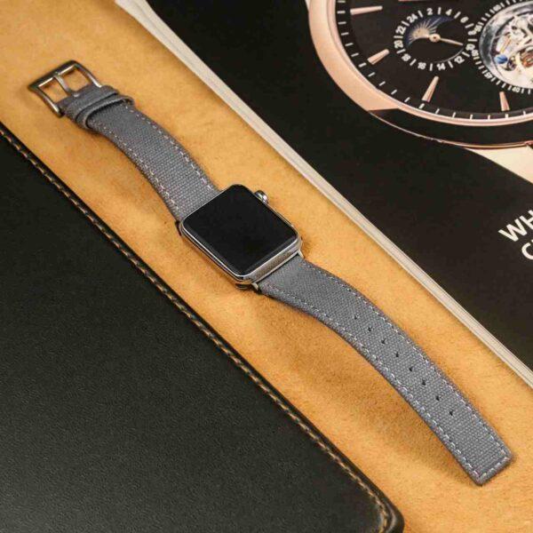 Gray | Canvas Watch Bands Quick Release | Hemsut