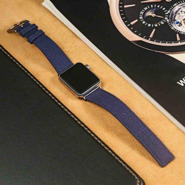 Blue | Canvas Watch Bands Quick Release | Hemsut